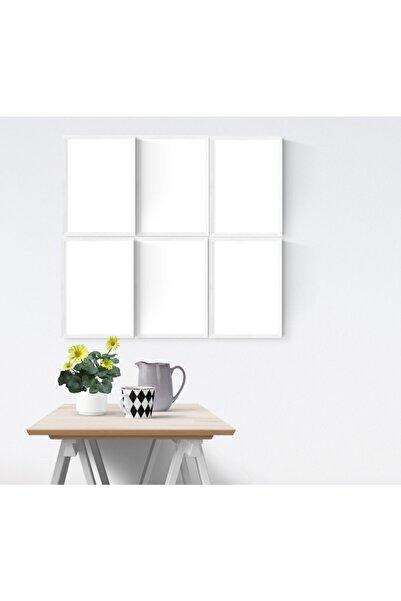 YED Frame 6'lı 21x30 Cm (a4) Resim Çerçeve Seti - Beyaz