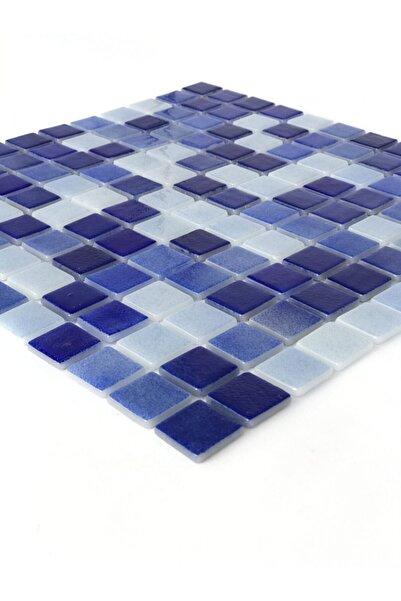 Orient Havuz Için Mavi 25x25 Cam Mozaik