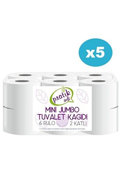 Pratiksoft 5 Koli Mini Jumbo Tuvalet Kağıdı 60 Rulo 42129
