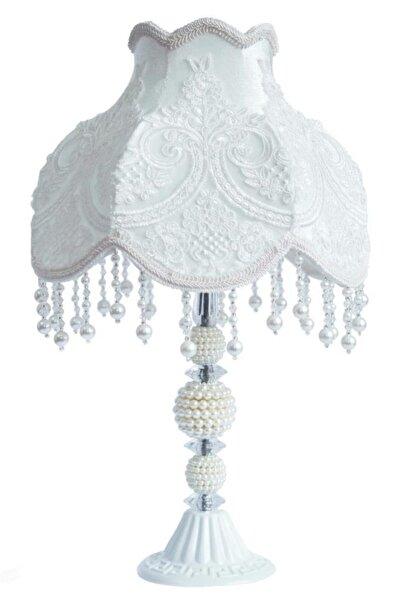 Omni Design Dekoratif Abajur Gece Lambası Kırık Beyaz Ab0005