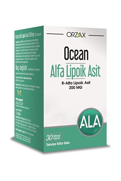 Ocean Orzax Alfa Lipoik Asit 200 Mg 30 Kapsül