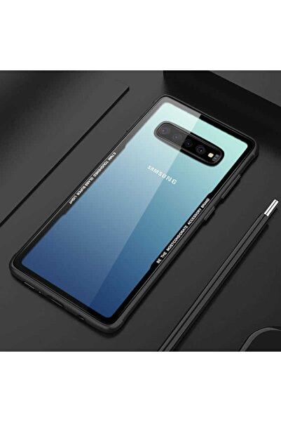 Samsung Galaxy S10 Plus Kılıf Kılıf Darbe Emici Sıkıştırılmış Arka Şeffaf Kapak
