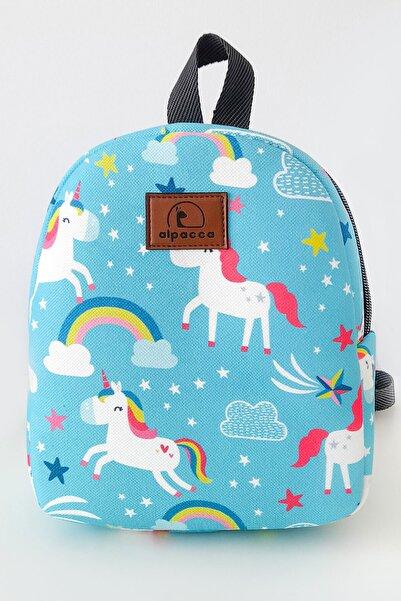 Alpacca Blue Unicorn Çocuk Sırt Çantası