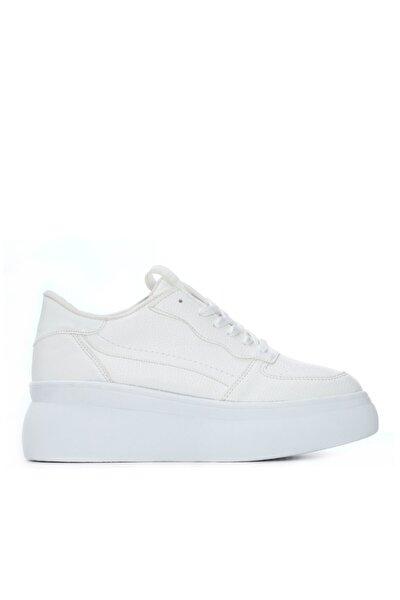 KEMAL TANCA Kadın Beyaz Vegan Sneaker Ayakkabı