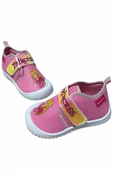 GEZER 3146 Kız Çocuk Yazlık Keten Ayakkabı Panduf