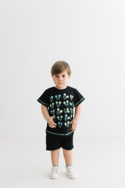 Mickey Mouse Erkek Çocuk Siyah Tişört