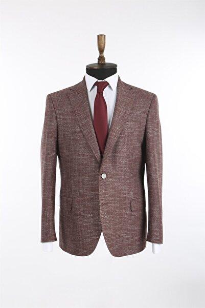 Jakamen Kiremit Renk Mono Yaka Klasik Kalıp Erkek Ceket
