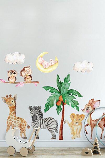 Kt Grup Sevimli Yavru Hayvanlar Oda Arkadaşları Çocuk Odası Duvar Sticker Seti