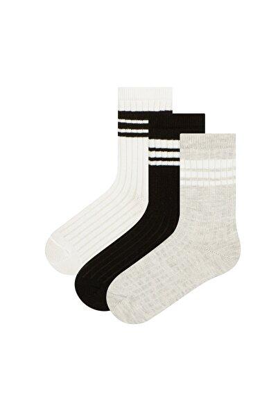 Penti Çok Renkli Bgw Stripe 3lü Soket Çorap