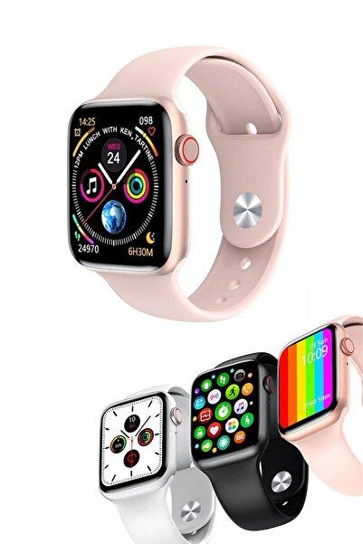 Favors Huawei P40 Lite E Uyumlu Su Geçirmez Konuşma Pembe Smart Watch Series W26+ Akıllı Saat
