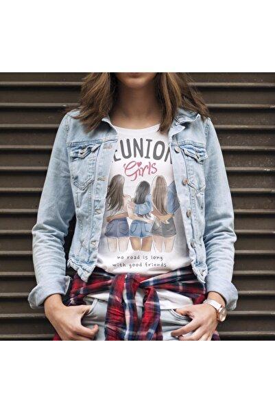 Yedigünmarka Uzun Yol Iyi Arkadaş Reunion Kızları Yazlıkbeyazrenk Tasarım Tişört