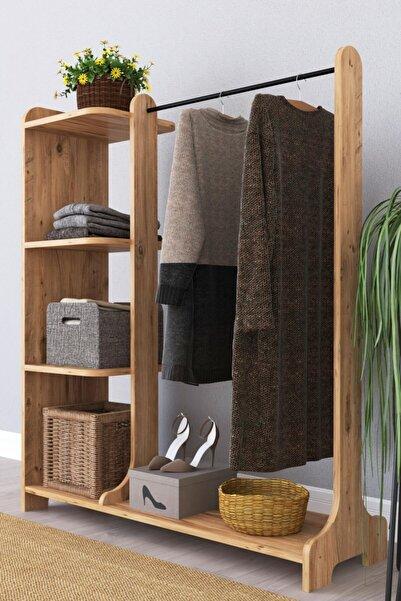 Remaks Tarz Portmanto Ayaklı Elbise Askısı Ve Konfeksiyon Askılık Elbise Dolabı - Atlantik Çam