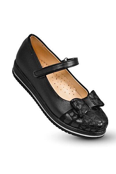 KAPTAN JUNIOR Kız Çocuk Ortopedik Ayakkabı Babet Pssk 200 Siyah