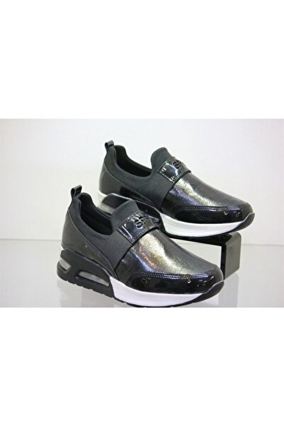 derinet Spenco- 134 Kadın Günlük Rahat Yürüyüş Ayakkabısı Siyah
