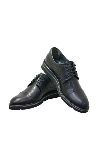 MARCOMEN Hasan Şebay 6509 Erkek Tarz Eva Taban Klasik Ayakkabı Siyah Cilt