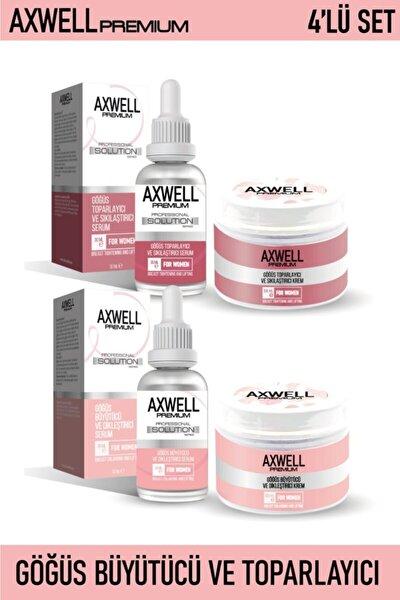 RC COSMETİCS Axwell Premium 4'lü Göğüs Bakım Seti (göğüs Sıkılaştırıcı Ve Toparlayıcı& Büyütücü Ve Dikleştirici)