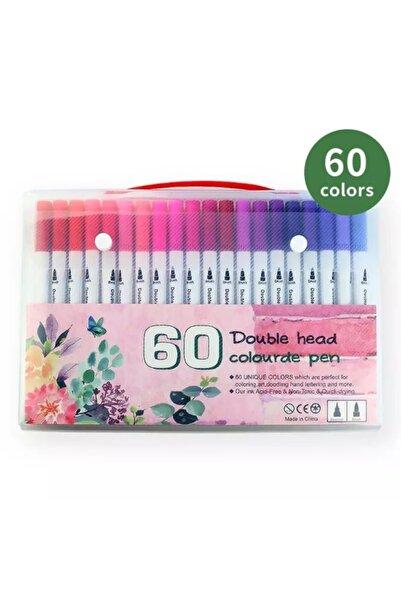armex Brushpen Ve Fineliner 60 Renk Set Çift Taraflı Fırça Ve Yazı