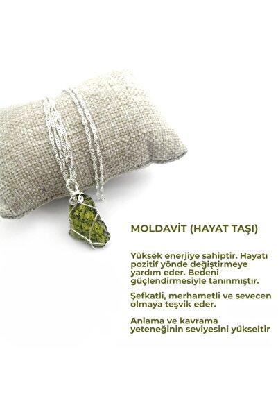 OSMANLI DOĞAL TAŞ Moldavit Doğal Taş Kolye