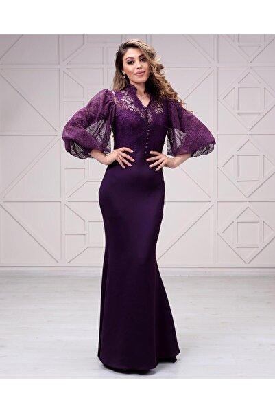 Matik Abiyem Kadın Üstü Likralı Dantel Altı Scuba Elbise