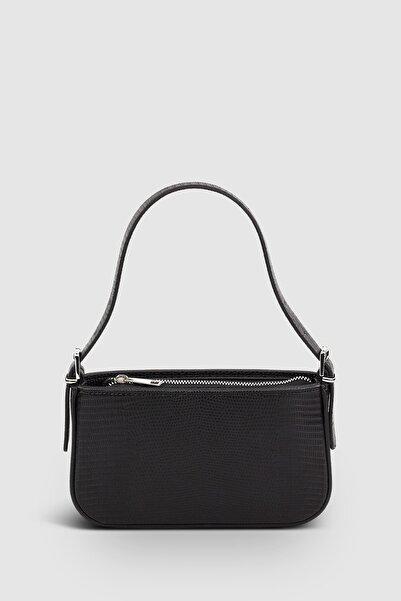 Housebags Kadın Tokalı Siyah Çanta 208