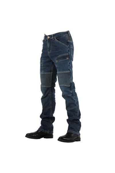 Tech90 Overlap Road Smalt Kevlar Jeans Motosiklet Pantolonu