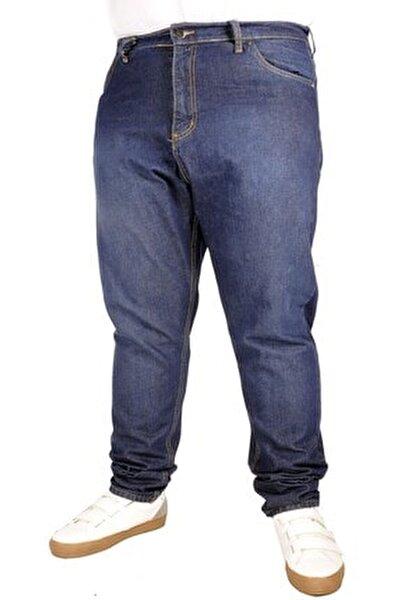 Büyük Beden Erkek Pantolon Kot 5cep Vertical Lycra 21915 Blue Black