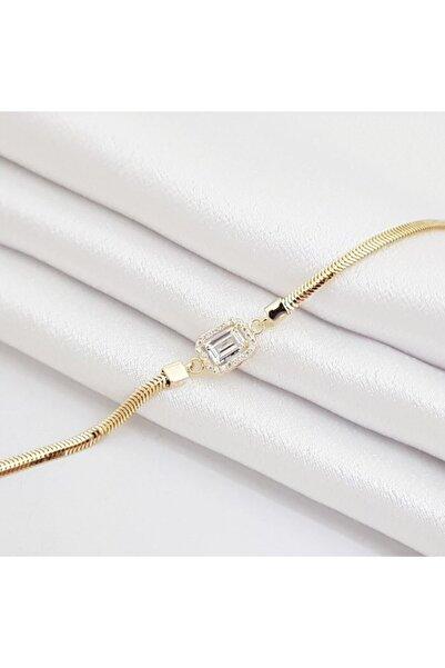 altınplaza Balık Sırtı Kordonlu Baget Altın Bileklik Kn02806
