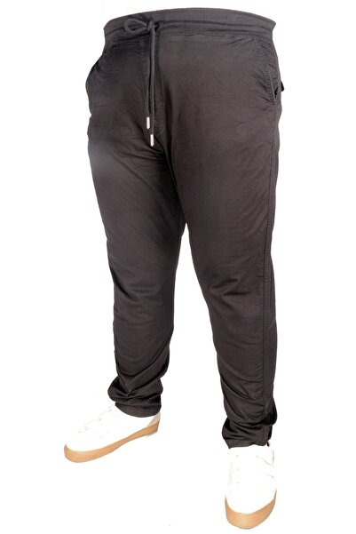 ModeXL Büyük Beden Pantolon Keten Jogger Milano 21913 Siyah