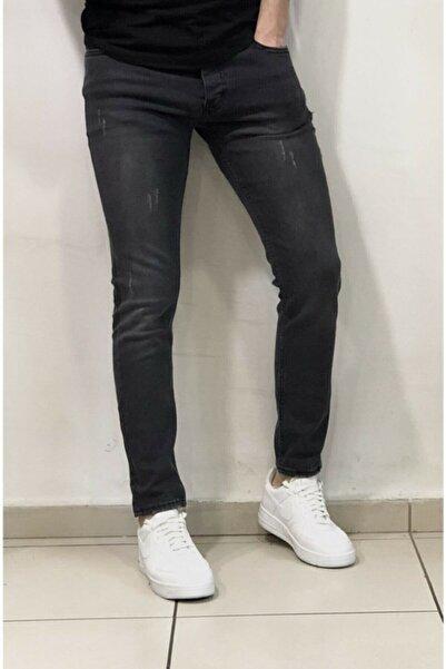 Rich Point Slim Fit Italyan Kesim Jeans Pantolon Siyah 509-4