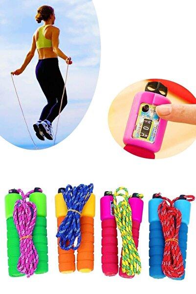 Phigo Renkli Sayaçlı Atlama İpi Evde Egzersiz Ve Spor Halatı Karışık Renkli