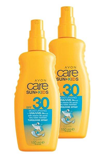 AVON Care Çocuklar İçin Turkuaz Renkli Güneş Spreyi Spf30 150 ml İkili Set