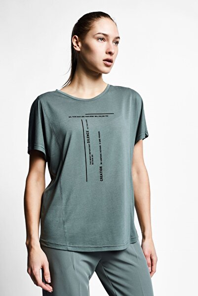 Lescon Kadın Yeşil Kısa Kollu T-shirt 21b-2016