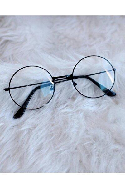 abenim Yuvarlak Şeffaf Harry Potter Güneş Gözlüğü Siyah