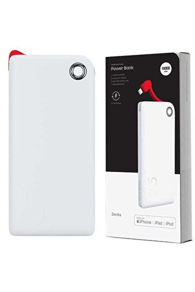 Cimricik Apple Iphone Uyumlu Powerbank Apple Mfi Sertifikalı 18w Hızlı Şarj 10000 Mah Dahili Lightning Kablo