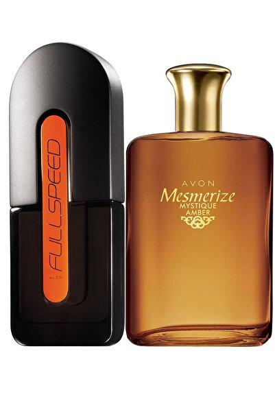 AVON Full Speed Ve Mesmerize Mystique Amber Erkek Parfüm Paketi