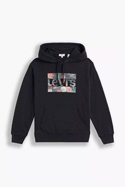 Levi's Kadın Standart Kalıp Graphic Siyah Sweatshirt