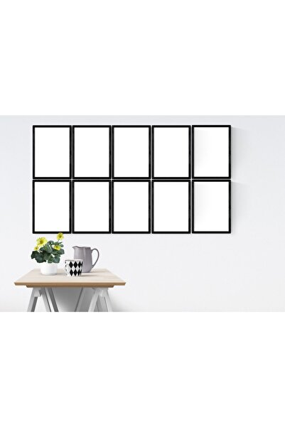 YED Frame A4 - 21x30cm Resim Çerçeve Seti - 10'lu - Siyah -