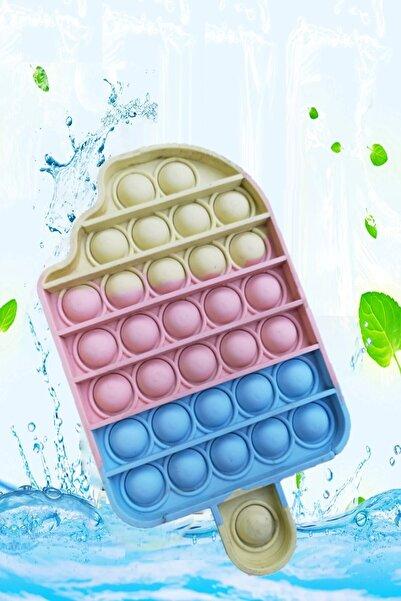 Ayver Pop It Push Bubble Fidget Zihinsel Stres Oyuncağı Gökkuşağı Soft Renk Dondurma Popit