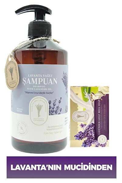 Dr. Lavender Dr. Lavanta Şampuanı Bitkisel Saç Bakım Şampuanı 500 Ml + %100 Bitkisel Keçi Sütlü Cilt Sabunu 100 G