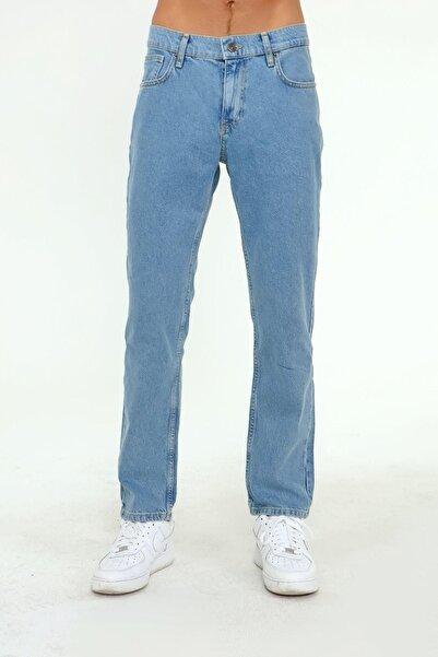 EXPLODE Erkek Regular Fit Jean Pantolon 32 Boy Açık Mavi