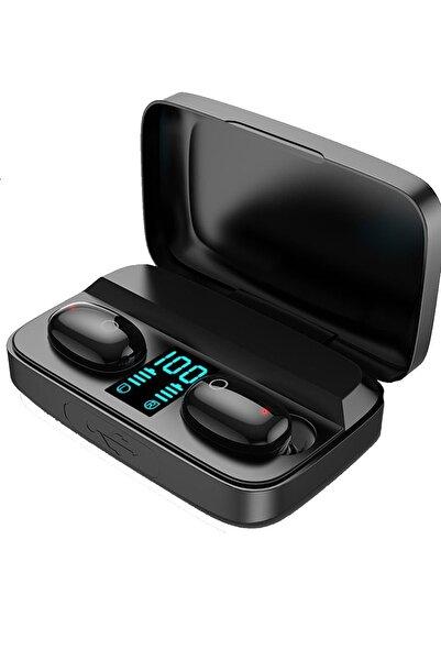 Favors Xiaomi Poco X3 Nfc Uyumlu A10s Göstergeli Mikrofonlu Kablosuz Siyah Bluetooth Kulaklık
