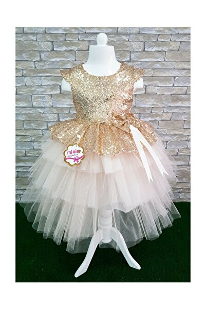 marveloussi grup Marveloussi Gold Payetli Elbise