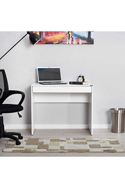 Adore Mobilya Çekmeceli Çalışma Masası - Diamond Beyaz