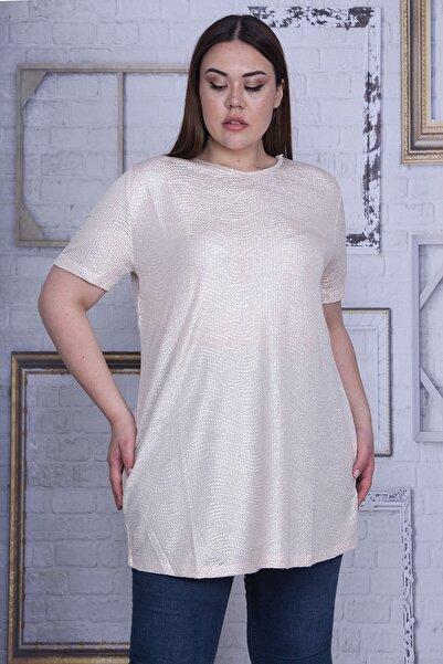 Şans Kadın Bej Sim Detaylı Bluz 65N27213