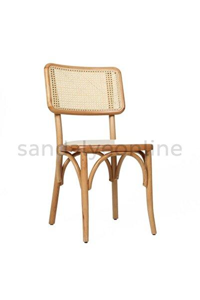 Sandalye Online Fred Ahşap Hazeranlı Sandalye Naturel