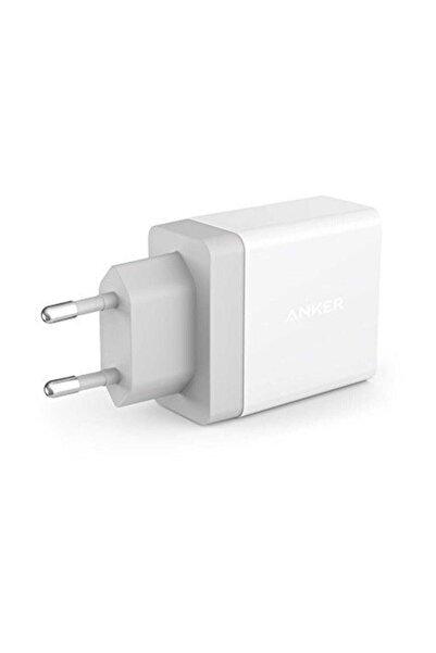 Anker PowerPort 2 24W Seyahat Şarj Cihazı Beyaz