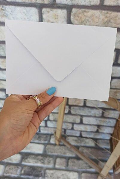 kaymak Beyaz Yapışkansız Davetiye Zarfı 12x18cm 70gr 50 Adet
