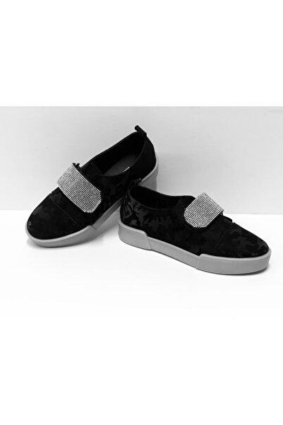 Markopark Kadın Sneakers Taşlı Cırtlı Ortopedik Bayan Spor Ayakkabı