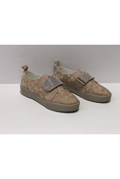Markopark Kadın Sneakers Taşlı Cırtlı Ortopedik Spor Ayakkabı