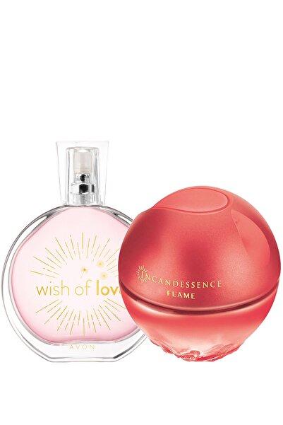 AVON Wish Of Love Ve Incandessence Flame Kadın Parfüm Paketi